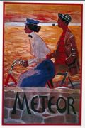 Vintage cycling advertisment poster - Meteor